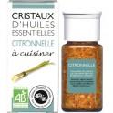 Cristaux d'huiles essentielles Citronnelle BIO - flacon de 20 g - Encens du monde - Florisens - Aromandise