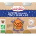 Petits pots Bonne nuit Légumes Variés-Blé Bio - 6 mois - 2 x 200 g - Babybio